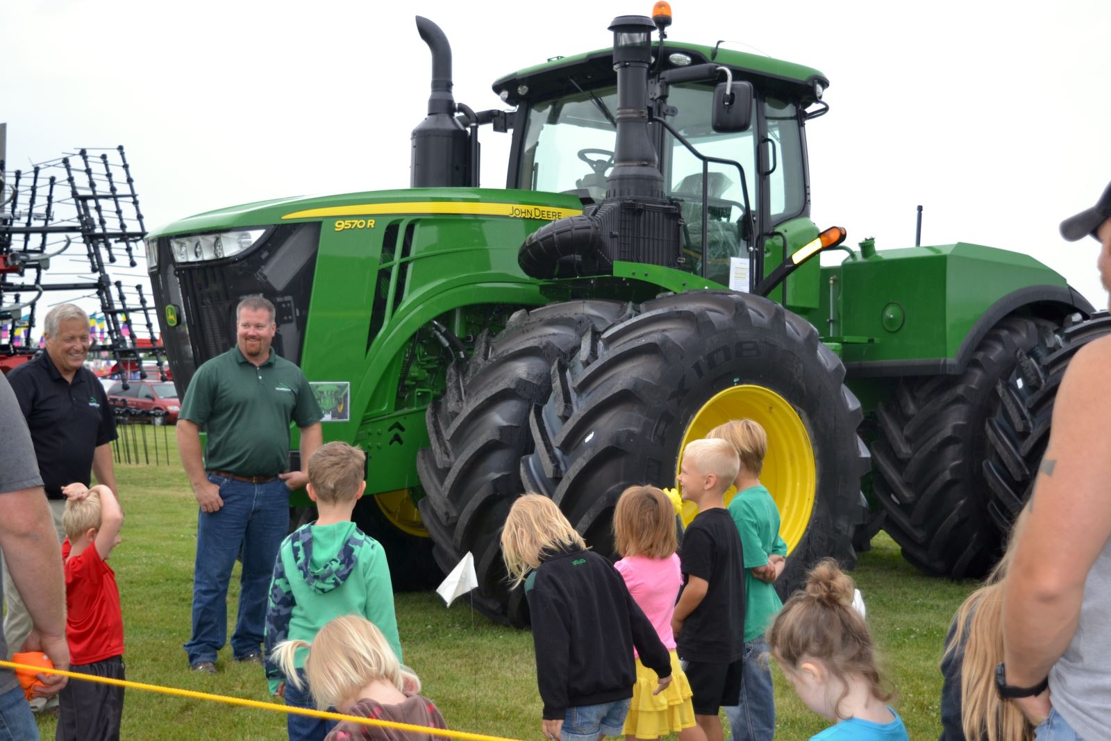 Kids farm equipment safety true north equipment salesman keith urbaniak and waylin olson talk farm equipment safety at the kittson county fair sciox Image collections