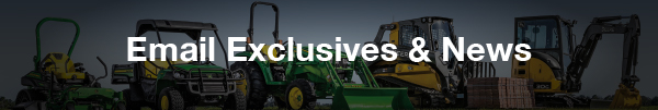John Deere Equipment line up for True North mailing list